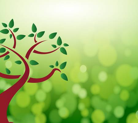 save planet: Green tree leaves nature concept. illustration design