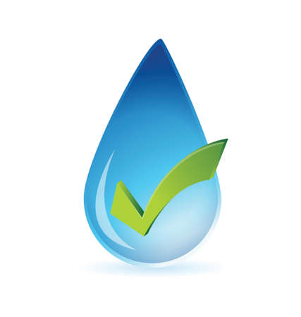 clean water approval illustration design over white Vector
