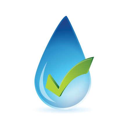 agree: clean water approval illustration design over white Illustration