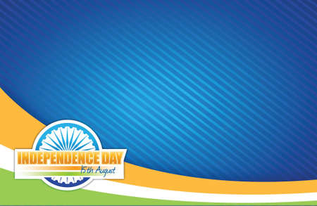 indian flag. independence day design illustration graphic