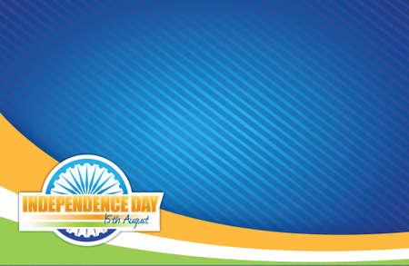 Indische Flagge. independence day Design, Illustration, Grafik Standard-Bild - 20903441