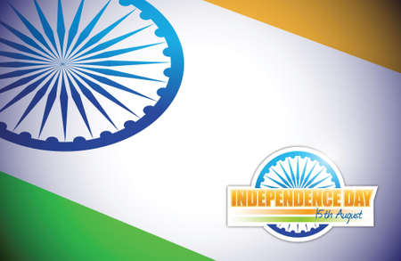 indian flag. independence day design illustration graphic Vector