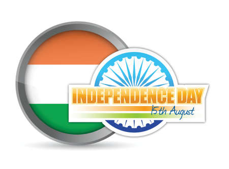 indian flag. independence day design illustration graphic