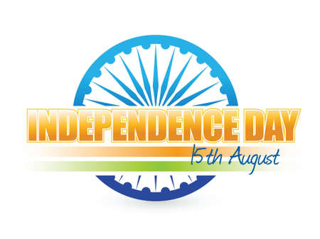 26: indian flag. independence day design illustration graphic