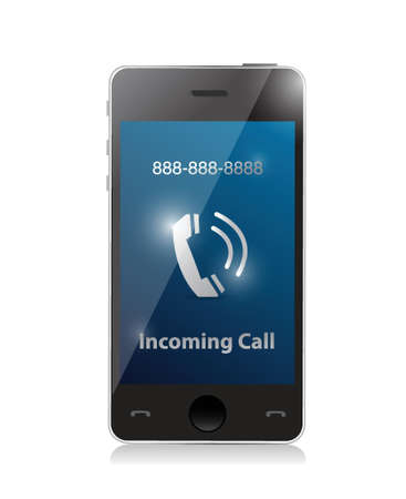 incoming: incoming call. modern smart phone illustration design