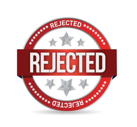 reject: reject seal stamp illustration over a white background