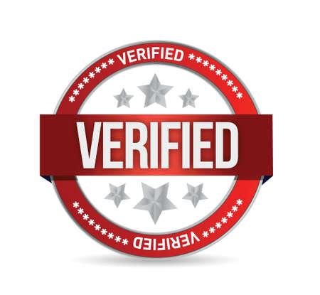 approbation: verified seal stamp illustration over a white background
