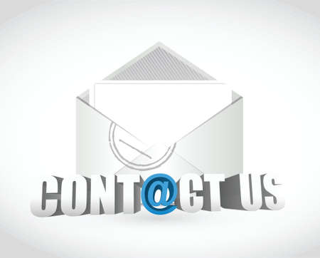 contact us. email envelope illustration design over white Vector