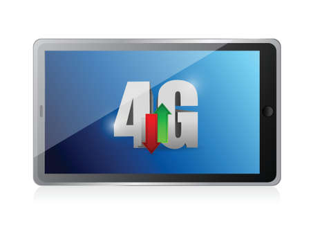 tablet 4g connection. illustration design over a white background Vector