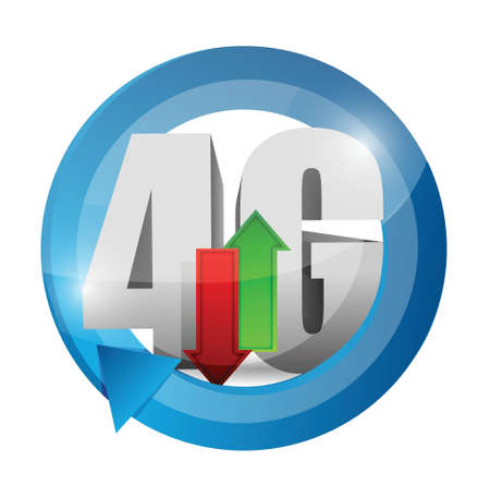 4g connection. illustration design over a white background Stock Vector - 20903396
