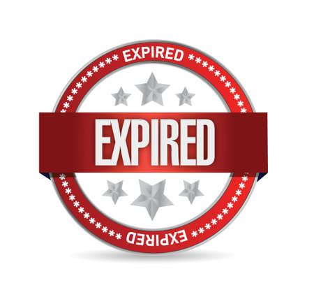 expired: expired seal stamp illustration design over a white background