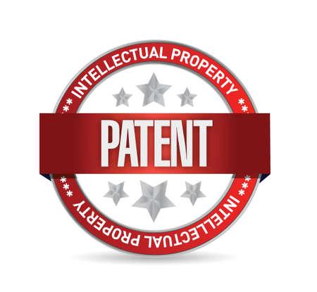 patente: patente sello sello Ilustraci�n de dise�o sobre un fondo blanco