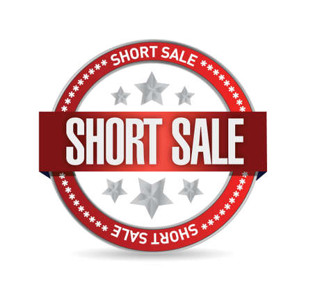 short sale: short sale seal stamp illustration design over a white background