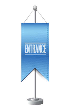 entrance standing banner sign illustration design over white Stock Vector - 20903309