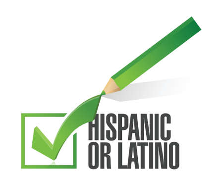 selected hispanic or latino with check mark. illustration design over white Stock Vector - 20903334