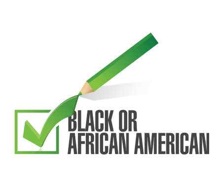 race selection black or african american illustration design over a white background Vector