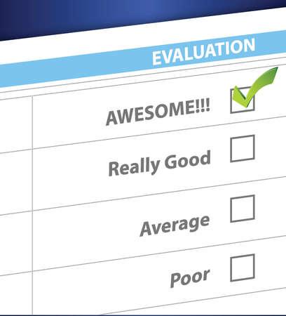 tickbox: awesome result on a survey. illustration design graphic Illustration