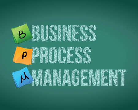 business process management sign illustration design on a chalkboard Vector