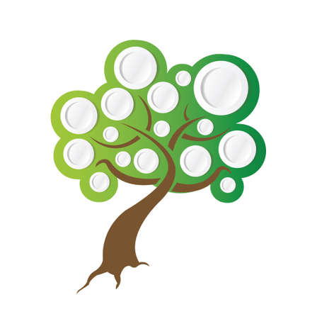 tree illustration ready for info graphics. illustration design over white