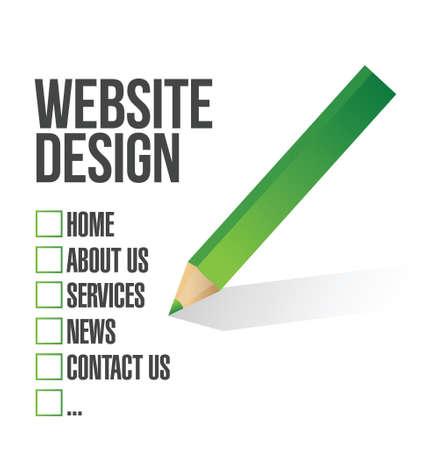 Webdesign Häkchen Auswahl Illustration, Design in weiß Standard-Bild - 21081386