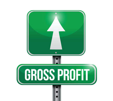 gross profit road sign illustrations design over white