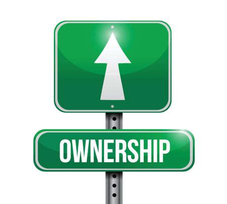 ownership: ownership road sign illustrations design over white Illustration
