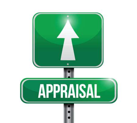 appraisal: appraisal road sign illustrations design over white Illustration