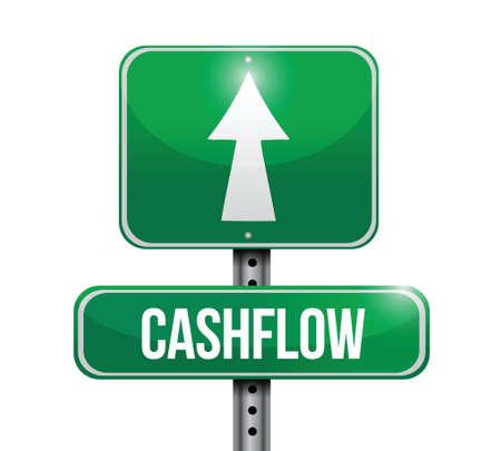 cashflow: ilustraciones cashflow se�al de tr�fico de dise�o en blanco