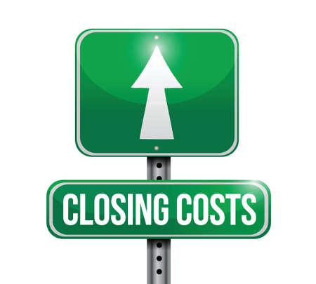 closing cost road sign illustrations design over white