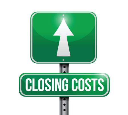 expenses: costos de cierre road sign ilustraciones dise�o en blanco Vectores
