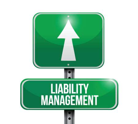 Liability-Management Verkehrsschild Illustrationen, Design in weiß