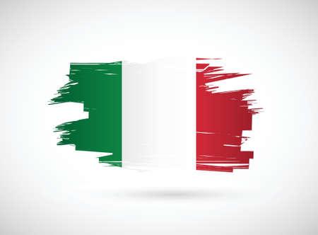 brush stroke: Italian ink brush flag illustration design graphic