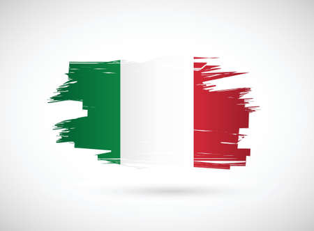 brush strokes: Italian ink brush flag illustration design graphic