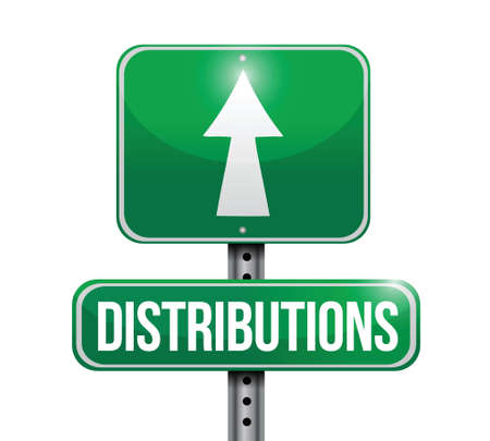 distributions road sign illustration design over white