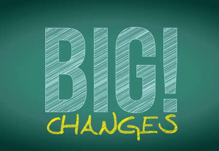 optimist: big savings sign on a chalkboard. illustration design