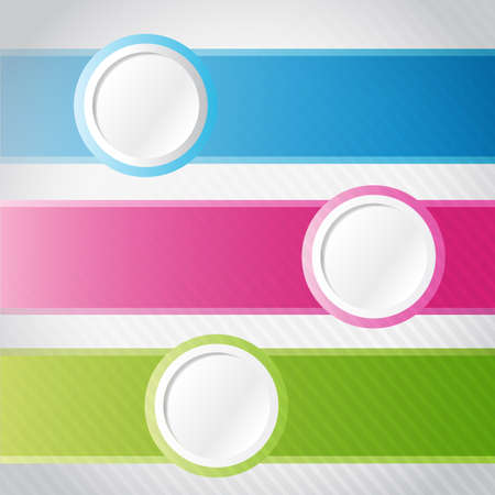 colorful circle banner infographics illustration design over white illustration