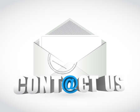 contact us. email envelope illustration design over white Stock Photo