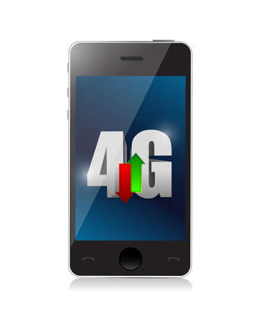 phone 4g connection. illustration design over a white background illustration