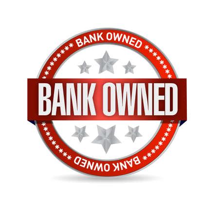 bank owned seal stamp illustration design over a white background illustration