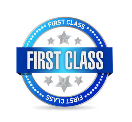 first class seal stamp illustration design over a white background Stock fotó