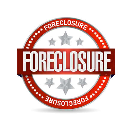 bank owned: foreclosure seal stamp illustration design over a white background