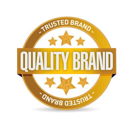 quality brand seal stamp illustration design over a white background