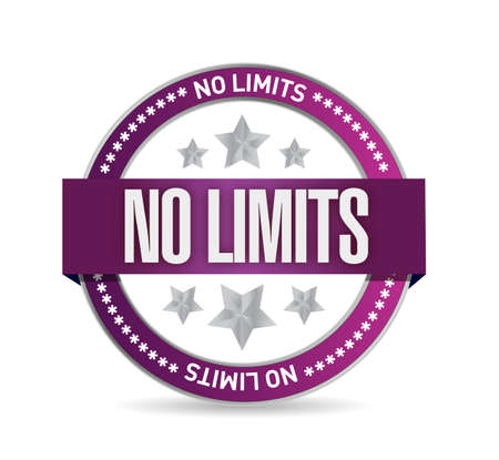 no limits seal stamp illustration design over a white background Фото со стока