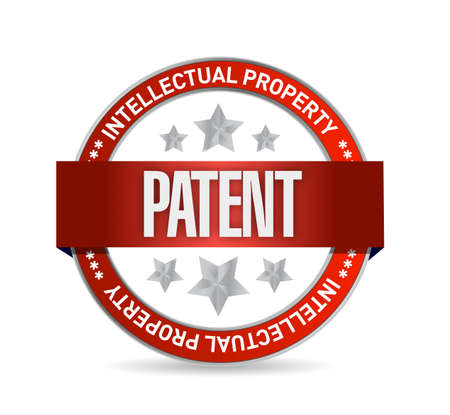 copyrighted: patent seal stamp illustration design over a white background