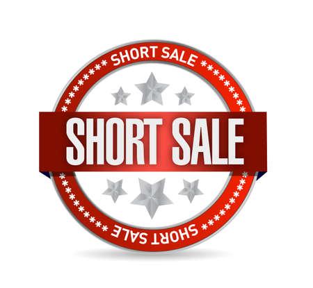 bank owned: short sale seal stamp illustration design over a white background