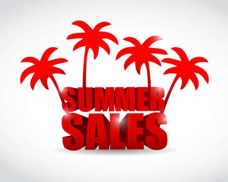 summer sale sign illustration design over a white background Stock Photo