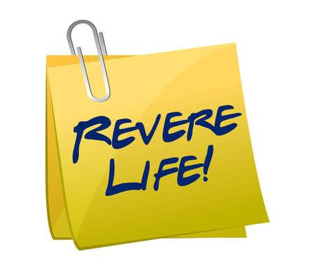 revere: revere life post illustration design over a white background Stock Photo