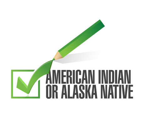 race selection. american indian. illustration design over a white background Stock Illustration - 21082021