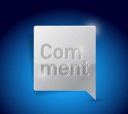 comment social media button pointer illustration design graphic