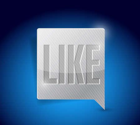 like social media button pointer illustration design graphic Stock Photo